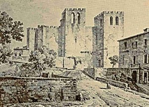 Dibuix de l'Abadia de Sant Víctor, l'any 1818