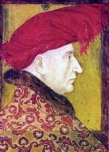 Retrat de Lluís II, marit de Violant.