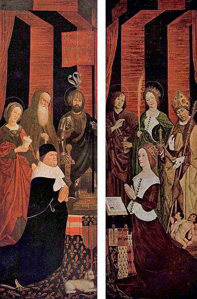 Díptic del rei Renat i la seva esposa Joana de Laval, pintat per Nicolas Froment, en 1475 i exposat a la Catedral d'Aix de Provença.