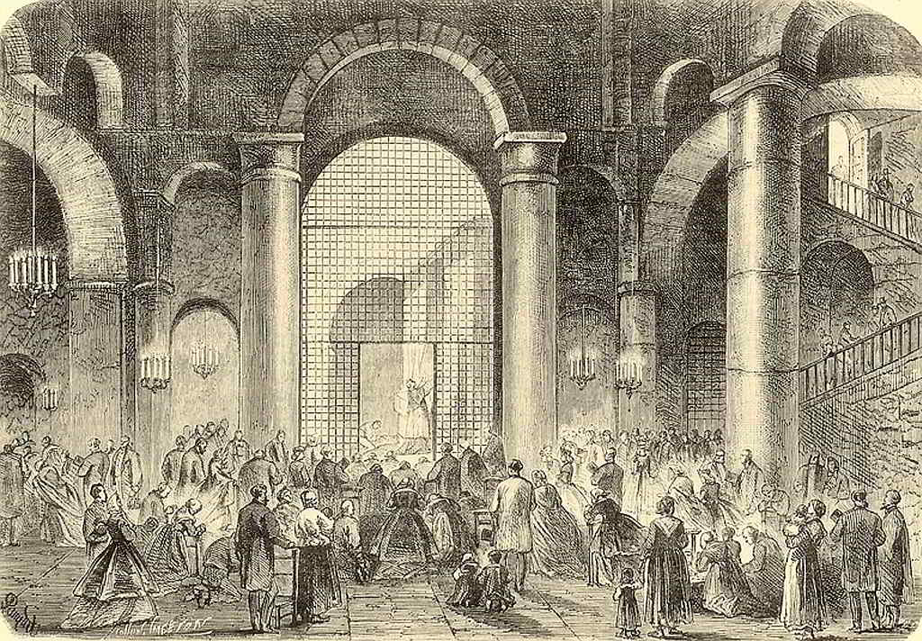 Gravat del 1860, de l'interior de l'Abadia de Sant Víctor.