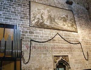 Cadenes del port de Marsella, portades per Alfons V el Magnànim. Capella del Sant Calze, Catedral de València.
