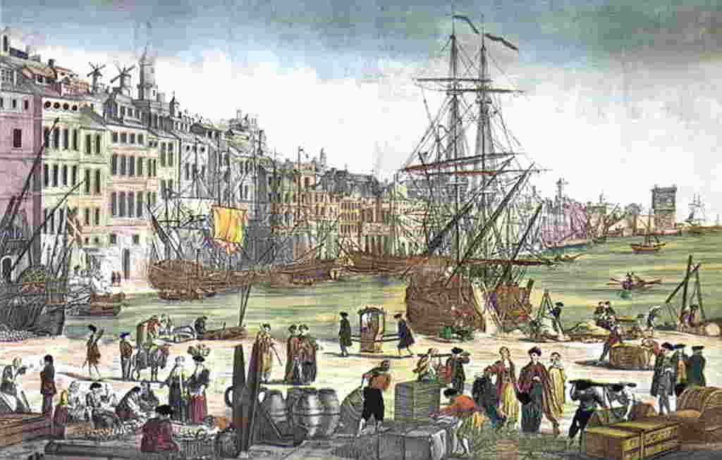 Antic gravat del Port de Marsella.