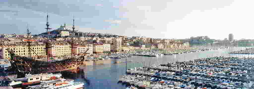 Panoràmica del Port Vell de Marsella.